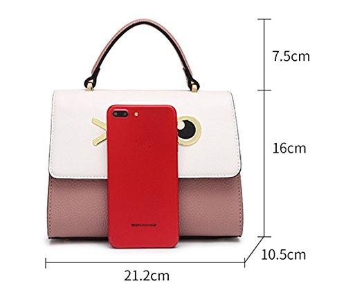 XinMaoYuan Cute Wind Handtasche Wild Schulter Messenger Bag weiblichen Paket Cross-Type Hit Farbe magnetische Schnalle Beutel, Violett Lila