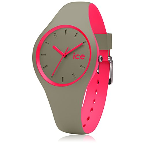 Ice-Watch - ICE duo Khaki Pink - Montre verte pour femme avec bracelet en silicone - 000360 (Small)