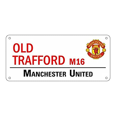 MANCHESTER UNITED F.C.Metal Street SignApprox 40cm x 18cmOfficial Licensed Product