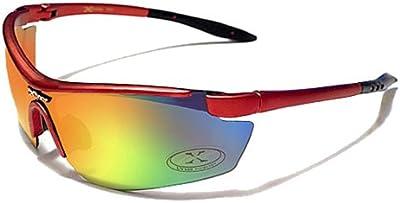 Xloop Gafas de Sol - Deporte - Running  - Ciclismo - Mtb - Esquí - Snowboard - Moto - Kitesurf / Mod 3550 Rojo Iridium Espejo