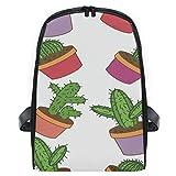 CVDGSAD Cacti Cactus Print Bookbag Student Shoulder Bags Bookbags for Girls Travel...