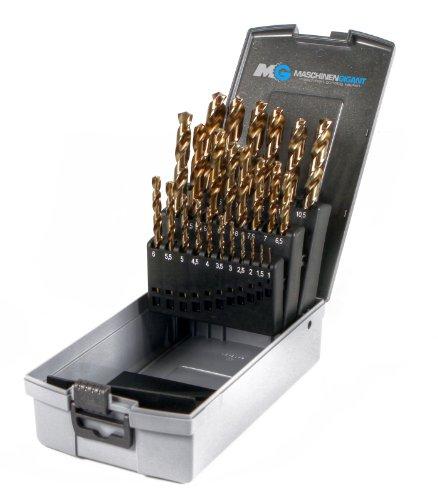 Metall Spiralbohrer im Set 25-tlg. Industriequalität HSS-E Co5% 1-13 mm in Rose Box