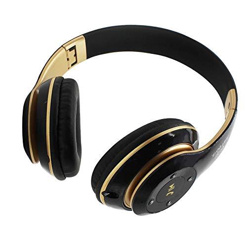 Huihuiya Universal-Super-Bass-Wireless-Bluetooth-Over-Ear-Gaming-Kopfhörer-Spiel-Kopfhörer-Schwarz & Gold