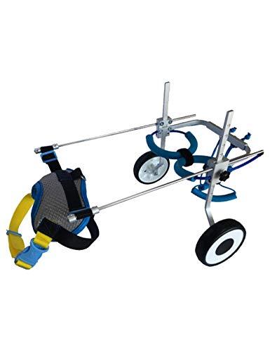 Einstellbare Haustier Rollstuhl Pet Rehabilitation Training Auto für behinderte Hunde Hinterbeine Repair Dog Push Wheel (Size : XS (Rollstuhl Kostüm)