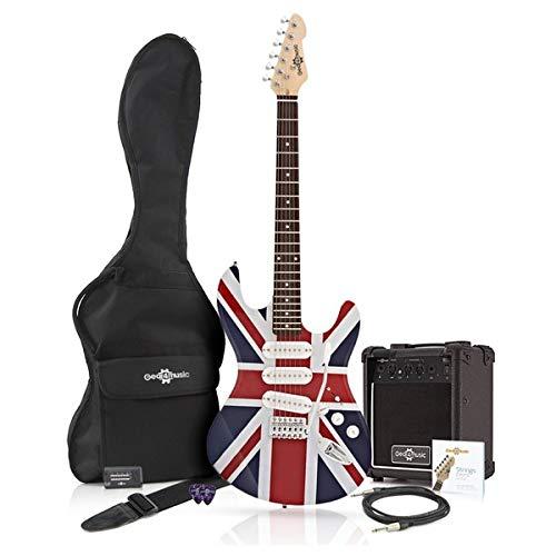 Chitarra Elettrica LA + Bundle Amplificatore 10W Union Jack