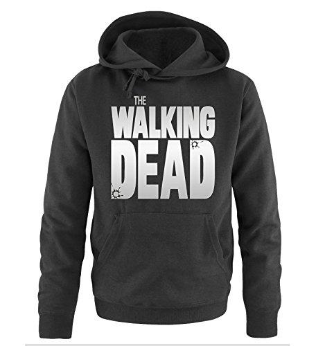 Comedy Shirts - THE WALKING DEAD - LOGO - Herren Hoodie - Schwarz / Silber Gr. L (Walking Dead Hats)