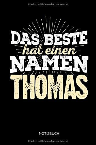 Namen - Thomas: Thomas - Lustiges Männer Namen Notizbuch (liniert). Tolle Vatertag, Namenstag, Weihnachts & Geburtstags Geschenk Idee. ()