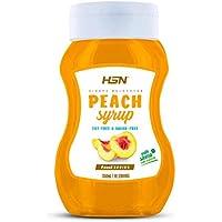 Sirope de Melocotón de HSN Foods - Sin Grasa, Sin Azúcar, Edulcorado con Estevia, Apto Vegetarianos - 350ml