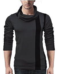 Seven Rocks Men's Muffler Neck Cotton Tshirt