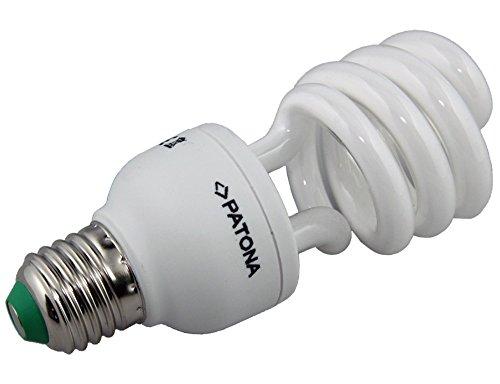Patona Energiespar-Lampe E27 20W / 100W Spiral Warmweiß Glüh-Birne Leuchtmittel - Cfl 100w Spirale Glühbirne