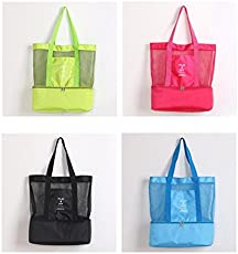 VelKro Mesh Travel Single Shoulder Hanging Tote Bag with 2 Compartments (Multicolour, PLAY AND JOY BAG_11111)