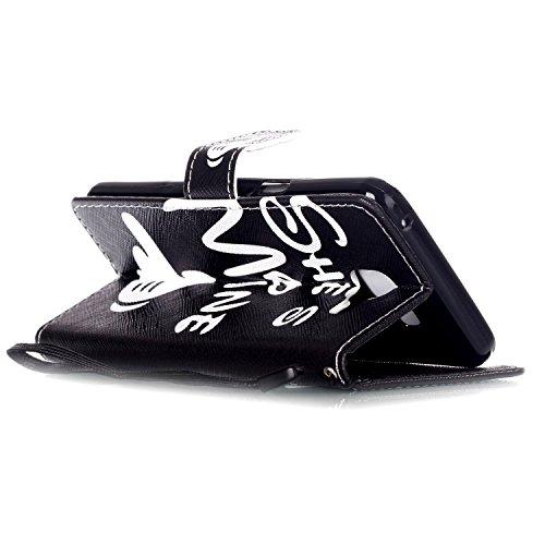 """MOONCASE iPhone 6S Coque, [Fleur Bear] Modèle Case Portefeuille [Porte-cartes] Housse en Cuir Etui à rabat avec Béquille pour iPhone 6 / 6S 4.7"""" He's Mine"""