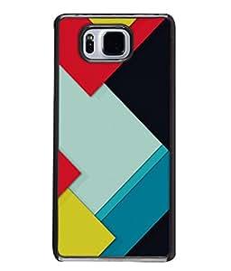PrintVisa Designer Back Case Cover for Samsung Galaxy Alpha :: Samsung Galaxy Alpha S801 :: Samsung Galaxy Alpha G850F G850T G850M G850Fq G850Y G850A G850W G8508S :: Samsung Galaxy Alfa (Fancy Square Design In Cool Colours)