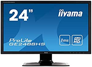 "iiyama ProLite GE2488HS-B1 24"" Full HD TN Noir écran plat de PC LED display - écrans plats de PC (61 cm (24""), 1920 x 1080 pixels, LED, 1 ms, 250 cd/m², Noir)"