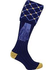Una gran variedad de Patterned calcetines de disparo con Garters por jack-pyke, Blue Diamond