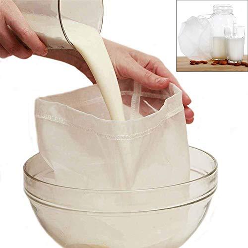 Xelparuc Premium Nussmilchbeutel für Mandelmilch/Sojamilch – feines Netzgewebe Nylon Käsetuch &...