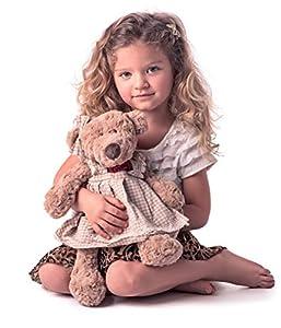 Woodyland 104594107 - Oso de Peluche para niña (Talla Mediana, 43 cm), Color marrón