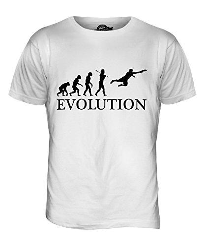 CandyMix Ultimate Frisbee Evolution Des Menschen Herren T Shirt Weiß