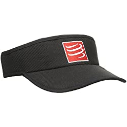 Compressport VINE - Visera unisex, color negro, talla única
