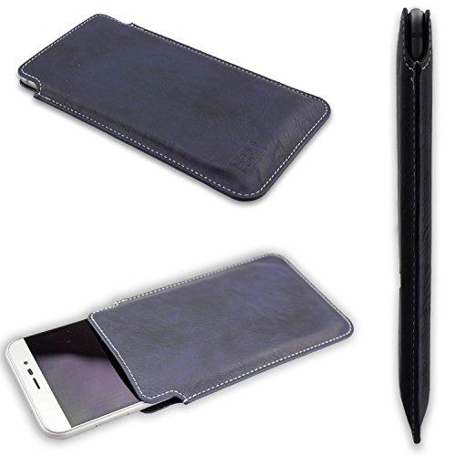 caseroxx Handyhülle Business-Line Etui für das Medion Life E5006 MD 60227 aus Kunstleder - Schutzhülle für Smartphone (Handy Sleeve in blau)