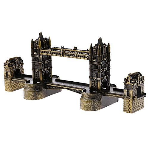 Yililay London Tower Bridge Statue Retro Metall Gebäude Modell London Bridge Figurine Dekorative Eisen-Fertigkeiten (Bridge-modell London)