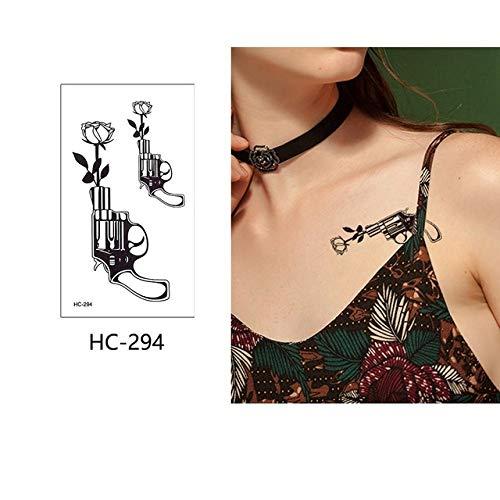 adgkitb 5 Stück temporäre Farbe Blume Tattoo Aufkleber HC-294 9,8x5,7 cm -