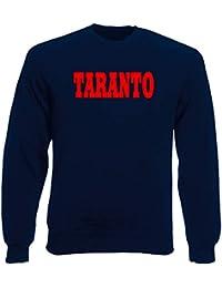 Speed Shirt Felpa Girocollo Uomo Blu Navy WC0855 TARANTO Italia Citta Stemma f1f1167dca76