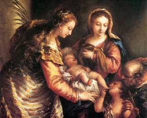 GFM Painting Peinture ˆ l'huile Reproductions de Holy Family with
