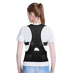 Filfeel Geradehalter zur Haltungskorrektur Rückenstütze Magnetic Back Shoulder Lendenwirbelsäule Korrektor Support Haltungskorrektur Gürtel