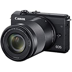 Canon EOS M200 Appareil Photo Hybride + Objectifs EF-M 15-45mm + EF-M 55-200mm- Noir