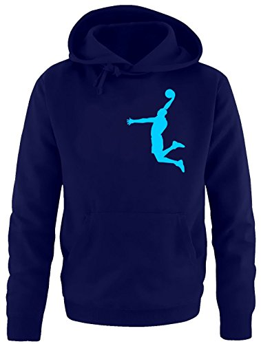 DUNK Basketball Slam Dunkin Kinder Sweatshirt mit Kapuze HOODIE navy-sky, Gr.164cm (Mädchen Dunk)