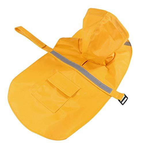 egenmantel Regenschutz Hundejacke Raincoat Hoodie Kleidung Wasserdicht,Regenmantel für Haustiere, reflektierende Streifen, wasserdicht, für Hunde und Katzen ()