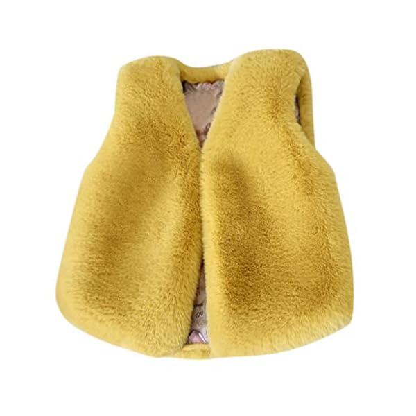 Heetey - Conjunto de Ropa para niña de Pelo sintético, Chaqueta cálida de Invierno, Ropa de Encaje con Lazo 1