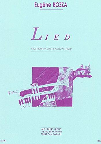 Eugne Bozza: Lied (Trumpet/Piano) Trompette