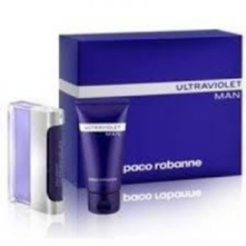 Paco Rabanne Ultraviolet Man Gift Set 50ml EDT + 50ml Shower Gel + 50ml Body Lotion (precio: 48,60€)