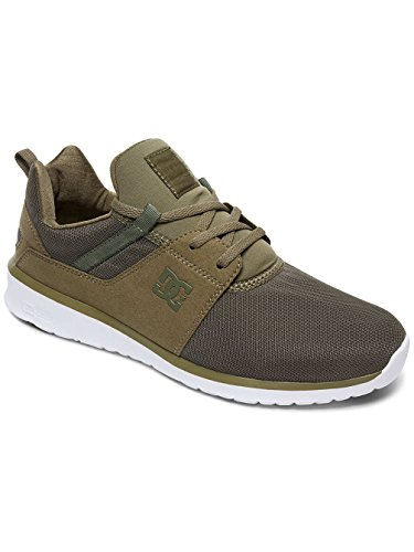 DC Shoes Heathrow M, Sneakers Uomo Vert - Olive Night/White