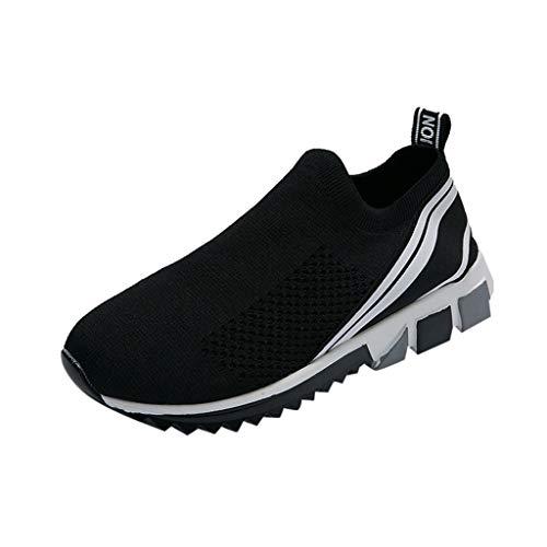REALIKE Unisex Liebhaber Schuhe Laufschuhe Atmungsaktiv Sportschuhe Sneaker Lederschuhe Mode Rutschfeste Sportschuhe Straßenlaufschuhe Trainer für Running Fitness Gym Outdoor
