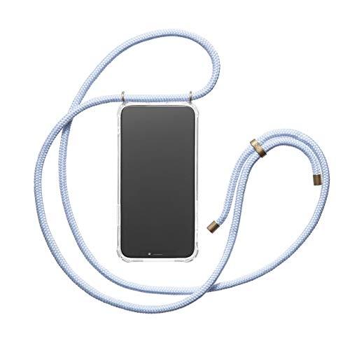 KNOK Handykette Kompatibel mitApple iPhone 6 / 6S- Silikon Hülle mit Band - Handyhülle für Smartphone zum Umhängen - Transparent Case mit Schnur - Schutzhülle mit Kordel in Light Blue -