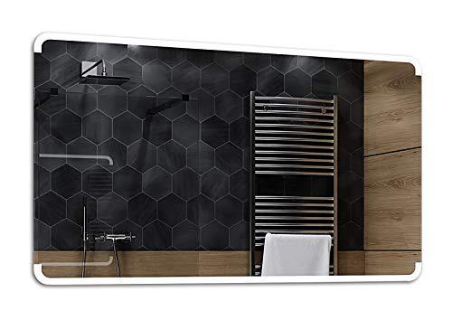 ALASTA Miroir | Moderne Miroir Mural | 120x80cm | Assen | Nouvelle Génération Miroir avec éclairage | 17 Accessoires au Choix