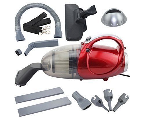 Gadgetronics Plastic Vacuum Cleaner for Home and Car Blowing and Sucking, 220-240 V, 50 HZ, 1000W, Medium, Red