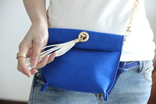 Other ,  Damen Schultertasche blau