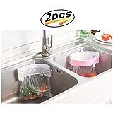 Creative Küchenschrank Tür Müllsackhalter – Starker Saugnapf Müllbeutel Halter Spüle Clip On Müllbeutel Aufbewahrung Rack (2er-Pack)