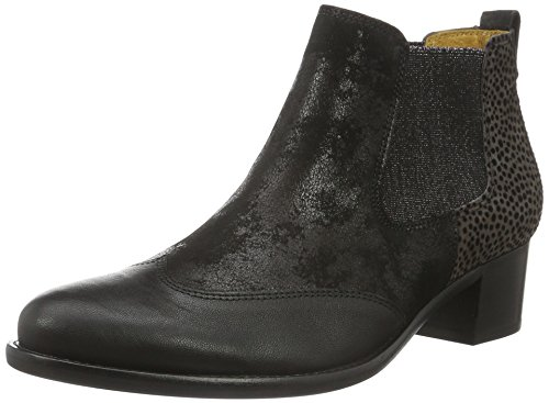 Gabor Shoes Basic, Stivaletti Donna, Multicolore (Schwarz/Zinn Ldf), 39 EU
