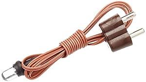 Rulke Rulke0113151 - Lámpara led con Cable y Enchufe (5 mm), Color marrón