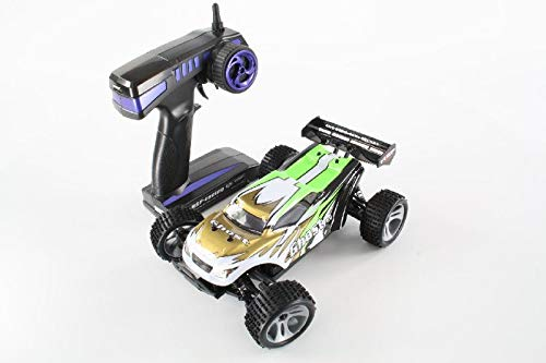 RC Auto kaufen Truggy Bild 4: HSP Truggy Ghost Pro brushless 1:18 4WD Grün 94803Pro/80397 | Fahrspaß auf kleinsten Raum | Fahrfertiges 1:18 RC-Car | 2.4 Ghz Sender | Ladegerät 250mAh (Ladezeit ca. 5 Stunden) | Fahrakku NiMH 7,2V mit 1100 mAh | Allradantrieb mit 5470kv Brushless Motor | Länge ca. 275mm | Breite ca. 170mm | Höhe ca. 100mm | Radstand ca.160mm*