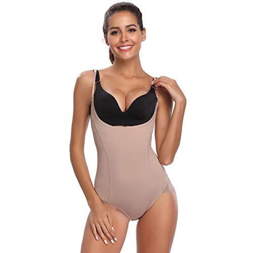 Joyshaper Damen Shapewear Figurformender Miederslip Miederhose Nahtlose Unterwäsche Shaping Bodysuit Taillenformer mit Bauch Weg Effekt (Beige-1, XL)
