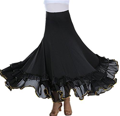Lange Swing Kleid Modern Walzer Tango Spitze die Röcke Standard Ballsaal Kleid