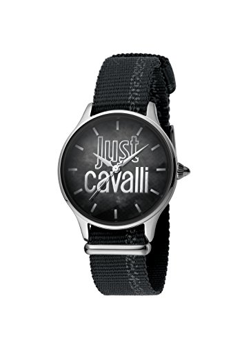 Just Cavalli Womens Analogue Classic Quartz Watch with Textile Strap JC1L032L0015