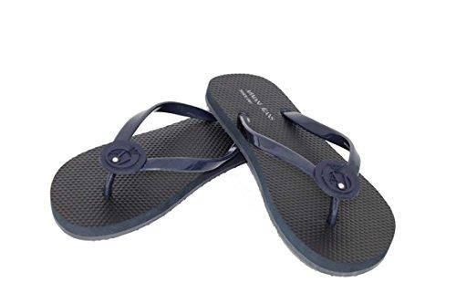 Armani jeans sandales chaussures shoe a55F4 zehensandalen claquettes Bleu - Bleu