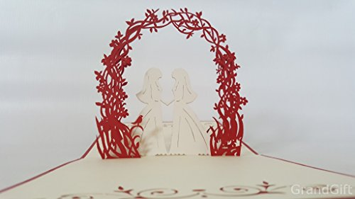 Lesbian Hochzeit Tag 3D Pop up Grußkarten Jahrestag Baby Geburtstag Ostern Halloween...
